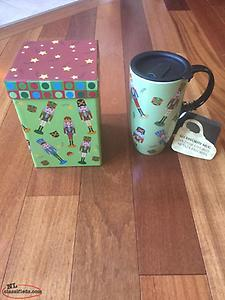 17 OZ. CERAMIC MUG WITH DECORATIVE BOX - BRAND NEW!