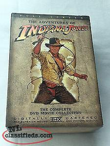 The Adventures of Indiana Jones 4-DVD Box Set, discs in excellent condition.