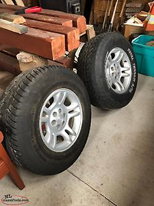 4 Tires on Dodge Dakota Rims