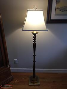 Dark Wood Floor Lamp