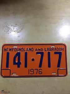 1976 Newfoundland license plates Wanted