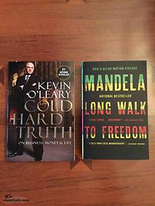 "2/$5 : NELSON MANDELLA ""Long Walk To Freedom"" NEW! Kevin O,Leary book-NEW."
