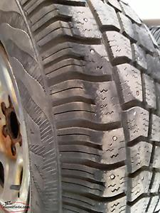 "16"" TIRES And Rims P245/75r16, Set of 4 Winter tires with rims 6 stud for Chev."