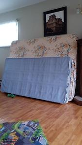 Queen size Mattress and Twin box spring