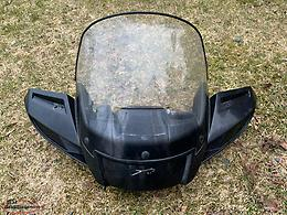 Atv accessories- windshield with mounting brackets and side mirrors