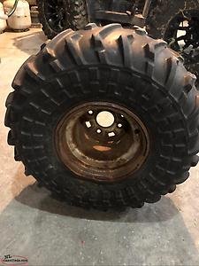 Ohtsu 25x12-9 tire and rim