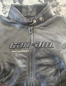 Ladies can am leather jacket