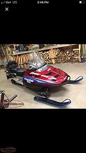 Selling a 2000 Polaris Indy Touring 550 Fan