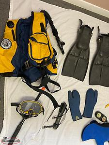Complete set of dive gear
