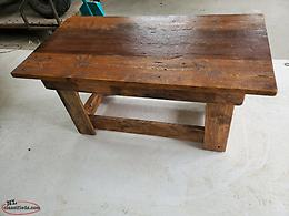Coffee table made from pallet boards
