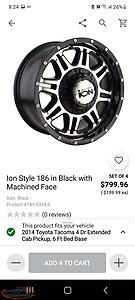 "looking for 17"" rims to fit a tacoma"