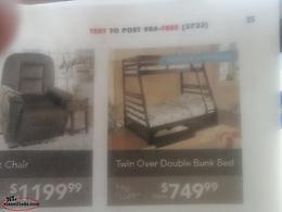 Bunk bed set for sale.