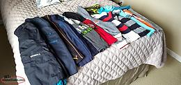 BOYS SIZE 6 & 6X 5 BOTTOMS, ONEIL, NAVY CEREW , PUMA, 10 TOPS DIESEL, ECHO, TOM+