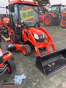 2017 Kioti CS2210 Tractor w/ Cab + Loader + Snowblower + Mower