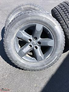 "20"" Dodge studded winter tires and rims"