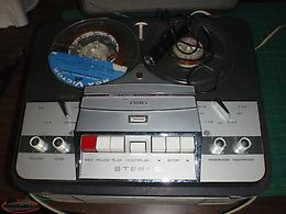 2 vintage reel to reel machines