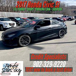2017 Honda Civic Si Coupe $152 Bi-Weekly O.A.C
