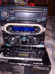 CAR STEREOS, 3 CD AND ONE CASSETTE $15 FOR THE LOT...MAKE A SHED STEREO