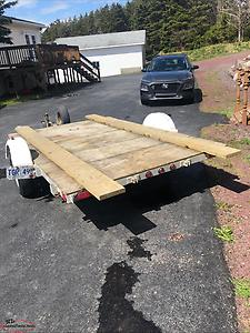 "SOLD...80"" x 120"" deck tilt utility trailer"