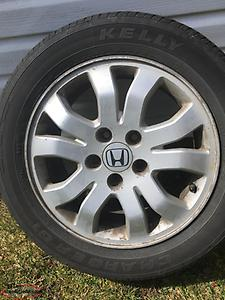 "16"" Honda Rims and 215/55/16 M&S Tires"