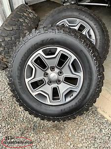 Jeep Rubicon Rims and tires $1200.00
