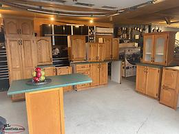 LARGE 20FT Set of Gently Used Solid Oak Kitchen Cabinets
