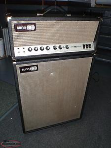 1960's SUNN TUBE AMP AND CABINET COMBO ( ORIGINAL )