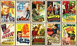 JOHN WAYNE Lot of 70 WESTERN MOVIE POSTERS
